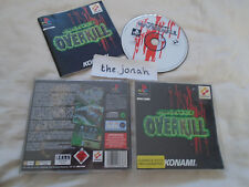 Project Overkill PS1 (COMPLETE) Konami black label VERY RARE Sony PlayStation