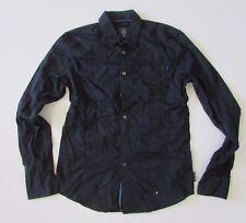 Calvin Klein Mens Dark Blue Long Sleeved Shirt Slim Fit Size Large (L)