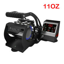SMART 11OZ Heat Press Transfer Machine Cup Coffee Mug 3D Sublimation Black Color