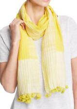 Eileen Fisher Handloomed SHIBORI Organic Cotton Silk Scarf YAROW