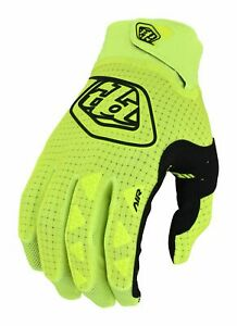 2022 Troy Lee Designs Air Youth Motocross MX Gloves Flo Yellow