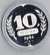 1 ounce ZILVEREN 5 cent 1941 REPLICA  .925 zilver PROOF capsule + certificaat
