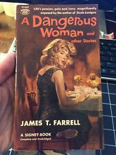 A Dangerous Woman By James Farrell 1957 First Paperback Print Collectible Gga