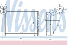 Échangeur Thermique Chauffage Intérieur - Nissens 73973