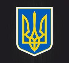 Sticker coat of arms flag car vinyl decal outdoor bumper shield ukraine