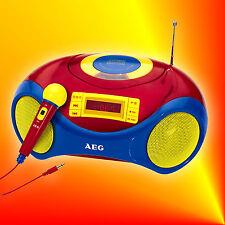 AEG SR 4363 Stereo Radio USB CD/MP3-Player Mikrofon Senderspeicher Anlage Kinder