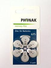 CLOSE OUT!!! Phonak Hearing Aid Batteries, Merc Free Size 675 - 60pk Exp 05/19