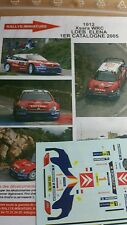 DECALS 1/43 REF 1012 CITROEN XSARA WRC SEBASTIEN LOEB RALLYE CATALOGNE 2005