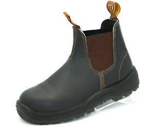 Blundstone 192 Safety Boots S1 Stiefel Leder Arbeit - Stout Brown + Lederfett