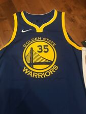 New Kevin Durant NBA Nike GS Warriors Authentic Icon Jersey Sewn 48 NWT