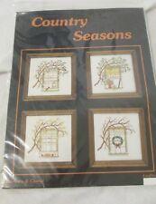 """Barbara & Cheryl """"country seasons"""" cross stitch kit Counted Cross Stitch"""
