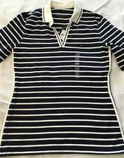 Tommy Hilfiger Womens Polo Shirt Open V-neck Tory Knit Half Sleeve Top XXL