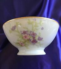 "ANTIQUE J P Pouyat Limoges 9"" HAND PAINTED BOWL. NEW REDUCED PRICE"