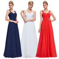 Chiffon Formal Long Wedding Prom Gown Bridesmaid Cocktail Party Evening Dresses