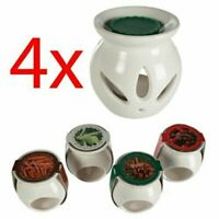 SET OF 4 OIL BURNER MELTS TART CERAMIC AROMATHERAPY CANDLE GIFT HOME  SCENTS