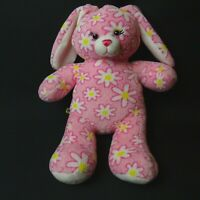 Build A Bear Pink and white Flower petal pattern Soft Toy Girl Plush Rabbit 16""