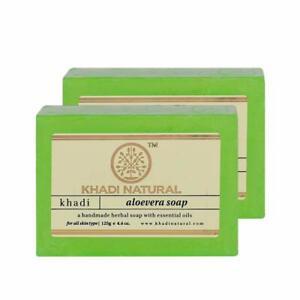 Khadi Natural Herbal Soap Handmade Soap With Essential Oil 125g, Set Of 2 Pcs
