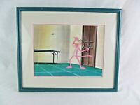 Pink Panther Cartoon Animation Cel Swatting Fly Framed