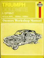 Triumph Dolomite & Dolomite Sprint 1972-1974 Haynes owners' workshop manual