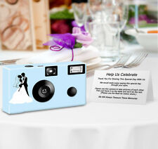 8 pack PERSONALIZED Newlyweds in Silhouette Disposable Cameras, Wedding Cameras