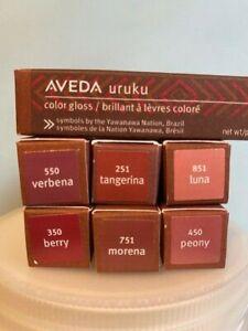 AVEDA URUKU color gloss, lip color, lip tint NIB  Choose your shade.
