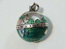 THOMAS SABO Large Wonderful World Sterling Silver Globe Clip On Charm
