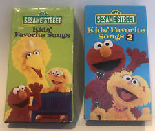 New listing Sesame Street Kids' Favorite Songs 1 and 2 VHS Lot