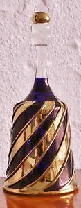 Egyptian Glass Bell With Working Clacker 24kt Gold Decorated