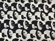 RPF11 Japanese Kokka Asian RARE Black White Panda Bear Cotton Quilt Fabric