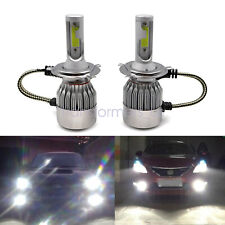 H4 9003 LED Headlight Conversion Kit High/Low Beam 8000lm 6000KWhite Light Bulbs
