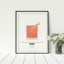 Negroni Cocktail Print Gin Lovers Gift Cocktail Posters Gift For Best Friend