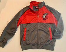 MAJESTIC Portland Trail Blazers Red & Gray Track Jacket size Medium EEUC