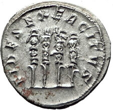 PHILIP I 'the Arab' 247AD Rome Silver  Ancient Roman Coin Four standards i65366