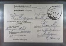 Camp Stalag IVC Wistritz 1942 POW Prisoner Belgium Kriegsgefangenenpost K11d