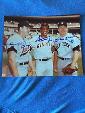 WILLIE MAYS, MICKEY MANTLE,  HARMON KILLEBREW AUTOGRAPHED / SIGNED 8X10 W/HR