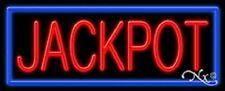 Brand New Jackpot 32x13x3 Border Real Neon Sign Withcustom Options 11431