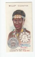 1908 Trade Card of TIME & MONEY Card in NATAL Africa British Shilling