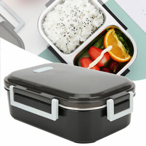 Stainless Steel Thermos Thermal Lunch Box With Bag Set Food Container 700ml(Blac