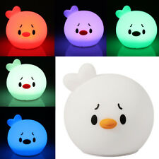 7 Color-Change LED USB Silicon Chick Night Light Baby Nursery Bedside Table Lamp