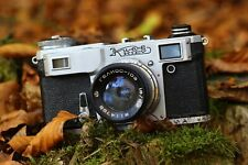Retro Camera Kiev mit Objektiv Helios f1.8/53 mm +Ledertasche