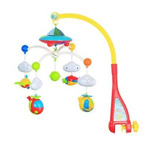 Baby Musical Crib Bed Cot Mobile Light Flash Nusery Lullaby Toy Soft Stars Dream