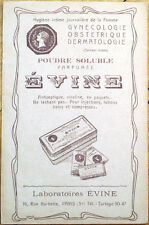1934 French Perfume/Vanity Advertising Postcard: 'Poudre Soluble Parfumee Evine'