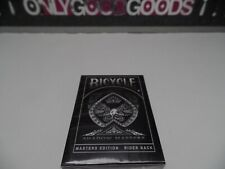Bicycle Masters Edition BLACK Ellusionist Rare Playing cards New Sealed USPCC
