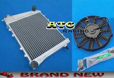 Aluminum Radiator + Fan for AUSTIN / ROVER MINI cooper / MORRIS ALL MODELS 67-91