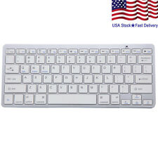 Wireless Bluetooth Keyboard Slim For Macs (Silver/White)