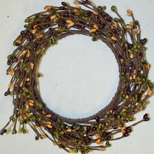 "Candle Ring Country Estate 4.25"" Mini Pip Berry Primitive Country New"