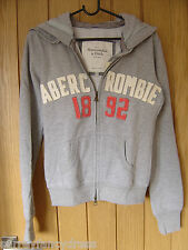 Abercrombie & Fitch Grey Fleece Hoodie Size S Small NEW (tags) RRP $69.50(Ref Z)