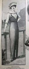 MODE ILLUSTREE SEWING PATTERN June 15,1913 - Ladies dresses (batiste, charmeuse)