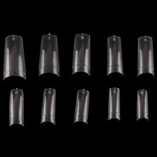 500Pcs Clear French Acrylic Style Artificial Half False Nails Nail Art Tips New