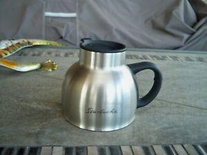 Starbucks chubby 16oz 18/8 stainless steel travel coffee mug w Dynaflex Handle